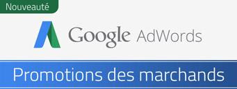 Nouveauté Adwords : Google Promotions des marchands disponible en France