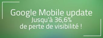 J+7 Google mobile : Jusqu'à 36,6% de perte de visibilité !